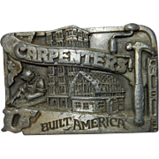 Vintage 1983 Siskyou Carpenters Belt Buckle N-27