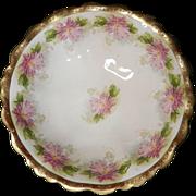 Vintage MZ- Moritz Zdekauer Austria Decorated Bowl