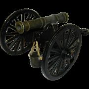 Vintage Die cast Civil War Era Toy Cannon