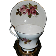 Vintage Royal Windsor China Footed Tea Cup and Saucer