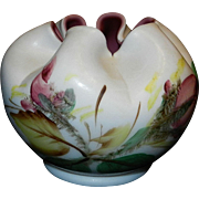 Vintage Hand Painted Cased Rose Bowl