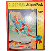 Vintage 1963 Superman Jr. Jigsaw Puzzle by Whitman