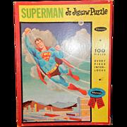 Vintage 1963 Superman Jr. Jigsaw Puzzle by Whitman