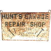 Antique Garage Sign- Welding and Blacksmith- Iron