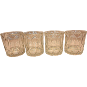 CROWN ROYAL Canadian Whisky Faceted Rocks Bar Liquor Glasses 1964