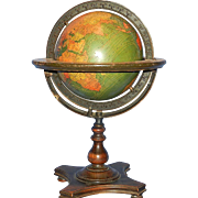SALE Vintage Kittinger Company 8-Inch Terrestrial Table Globe Buffalo, New York: c. 1927-30