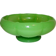 Vintage Fenton Jadeite Melon Art Glass Bowl