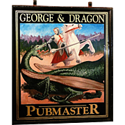 SALE Original Hand Painted Double Sided Tin English Pubmaster Sign