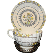 Vintage Copeland Spode of England Buttercup Oversized Cup and Saucer