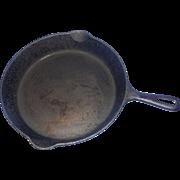 Vintage Seasoned 716 Griswold  Number 10  Cast Iron Skillet