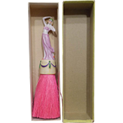 Antique Art Deco Vanity Half Doll Brush w/Original Box German Bisque