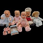 Vintage Vogue Ginny Ginnette Doll Dolls Lot 5 Dolls