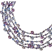 SALE Beautiful Anne Klein II Multi Strand Briolette Necklace