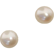 Lovely 5mm White Cultured Pearl Stud Earrings