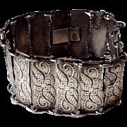 Gorgeous Art Deco Askel Holmsen Norne Sterling Silver Vintage Bracelet - Norway