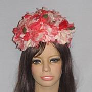 SALE Vintage 1960s Schiaparelli Floral Bubble Toque Hat