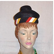SALE Vintage 1960s  Lilly Dache Straw Dachettes Hat