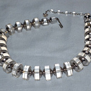 SOLD Vintage 1960s  Vendome Lucite and Chrome Plated Choker