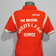 SALE Vintage 1960s Hilton Bowling Shirt Pin Rockers Made in USA