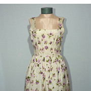 SALE Vintage 1950s Floral Cocktail Dress With Bubble Skirt