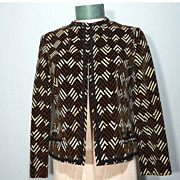 Vintage 1960s Abe Schrader By Belle Saunders Velvet Jacket Originally Sold At Thalhimers Frenc