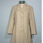 SALE Vintage 1960s Ivory Cashmere Coat