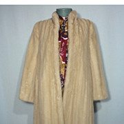 SALE Vintage 1970s Avanti Blonde Full Length Mink Coat Originally Sold At Thalhimers