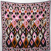 SOLD 1980s Emilio Pucci Mens Silk Pocket Square