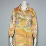 Vintage 1970s Felix Arbeo for Aventura Pastel Floral Print Long Dress