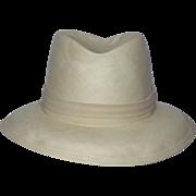 SALE Vintage 1980s Dobbs Fifth Avenue Shantung Panama Hat
