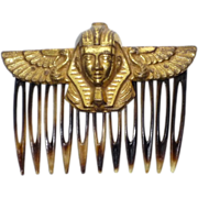 SALE Vintage 1970s Miriam Haskell Egyptian Pharaoh Hair Comb