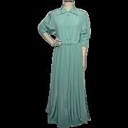 SALE Vintage 1950s Kamore Aqua Robe Dressing Gown