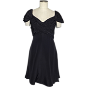 SALE Vintage 1980s Scaasi Boutique Black Silk Cocktail Dress Originally Sold at Saks Fifth ...