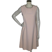 Vintage 1960s Minx Modes Blush Pink Cocktail Dress