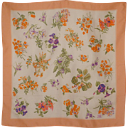 Vintage Liberty of London Floral Silk Scarf Made in England