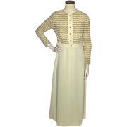 Vintage 1970s R & K Knits 2pc Maxi Dress and Jacket