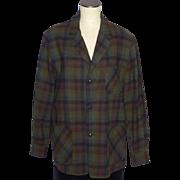 SOLD Vintage 1960s Pendleton Wool Plaid Topster Jacket