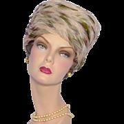Vintage 1960s Albrizio Feather Toque Style Hat