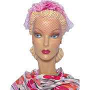 Vintage 1960s Whimsy Pink Silk Flowers