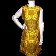 Vintage 1960s Lily Liang Thai Silk Paisley Print Sheath Dress