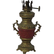 Miniature Dollhouse Working 2 Handled Oil Lamp With Burner