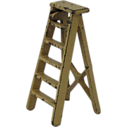 Vintage Kilgore Miniature Cast Iron Step Ladder Dollhouse