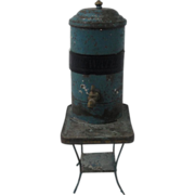 Miniature Tin Ice Water Tank/Cooler On Stand