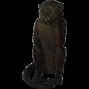 Hubley Cast Iron Monkey Doorstop