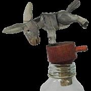 Anri Mechanical Wooden Cork Donkey