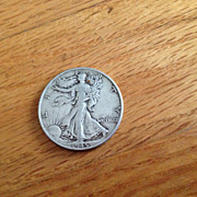 SOLD 1945 Walking Liberty Silver Half Dollar Coin - 90% Silver Content