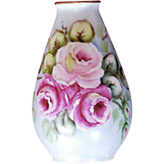 Hand-Painted Porcelain Bud Vase Plankenhammer Bavaria, Germany