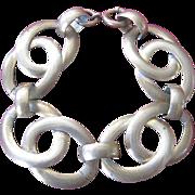1940's Vintage Brass Double Link Bracelet