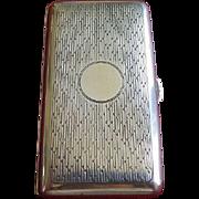 Sterling Art Deco Hallmarked Evening Cigarette Case