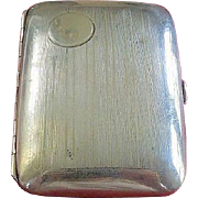 SALE Sterling Silver Art Deco Elgin Evening Cigarette Case